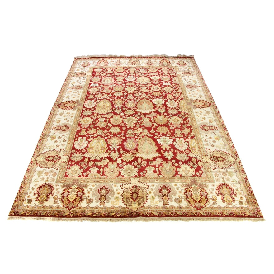 11'8 x 17'2 Hand-Knotted Persian Tabriz Room Size Rug
