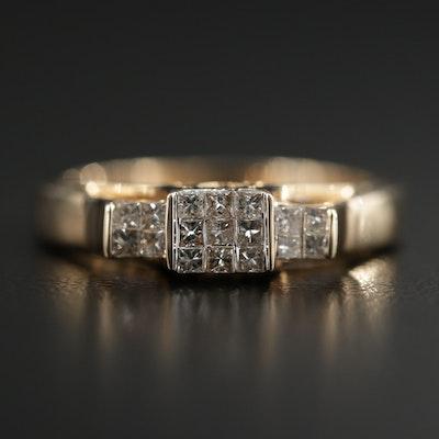 14K Yellow Gold 0.30 CTW Diamond Ring