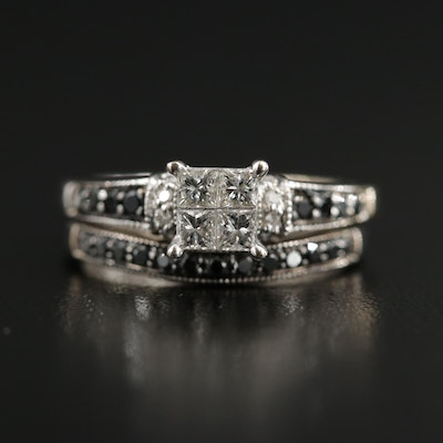 10K Gold Diamond Ring Set