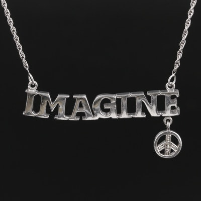 "Sterling Silver Diamond ""Imagine"" Necklace"