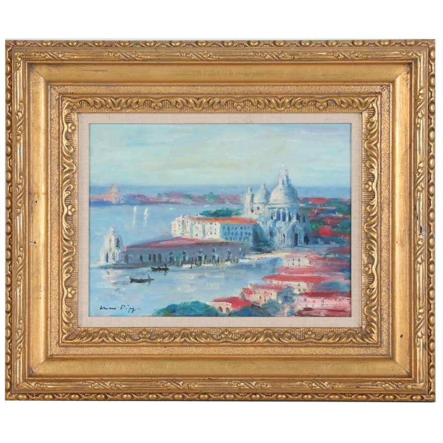 "Nino Pippa Oil Painting ""S.M. Dell Salute, Venice"""