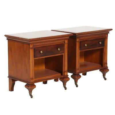 Pair of Arhaus Furniture Italian One-Drawer Nightstands