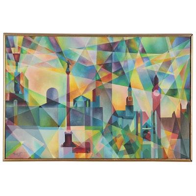 "Lloyd Johnson Oil Painting ""Trafalgar"", 1969"