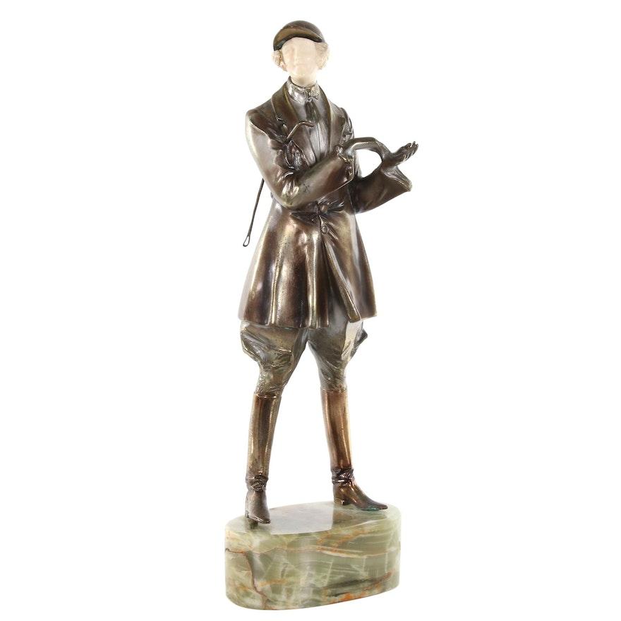 "Bruno Zach Art Deco Bronze Sculpture ""Horsewoman"", circa 1926"