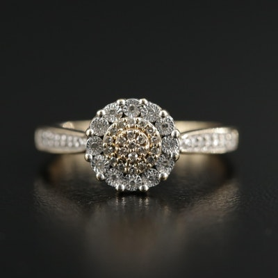 10K Yellow Gold Diamond Ring
