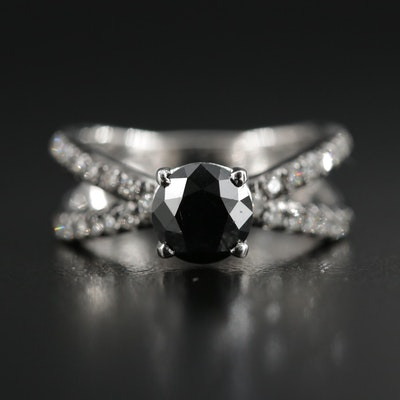 14K White Gold 1.43 CTW Diamond Ring