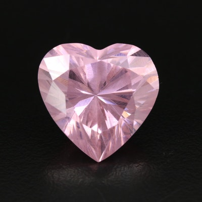 Loose Cubic Zirconia Heart Shaped Gemstone
