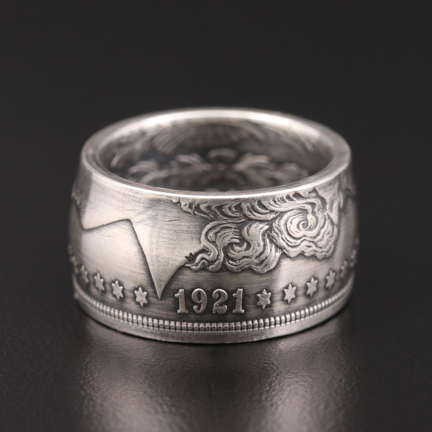 Sterling Silver Ring Made of a 1921 Morgan Silver Dollar