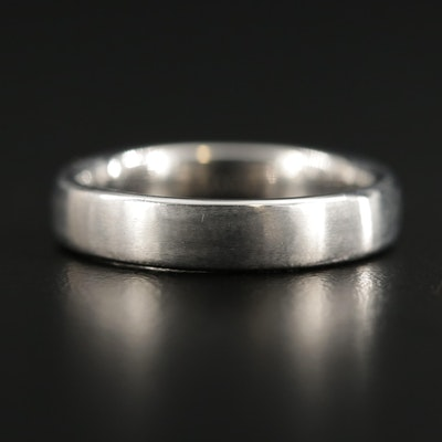Benchmark 14K White Gold Band