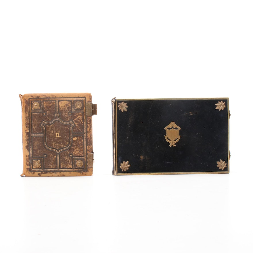 Leather Albums With Silver Print Photographs and More, Late 19th Century