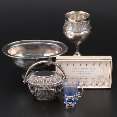 Silver Plate Nantucket Basket Trinket Box and Other Home Décor