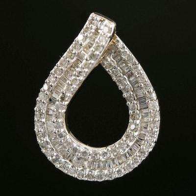 10K Yellow Gold 1.06 CTW Diamond Pendant