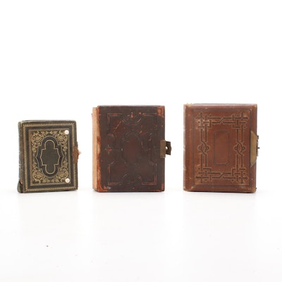 Photo Albums Featuring Civil War Era Photographs, Pressed Leaves, and Music Box