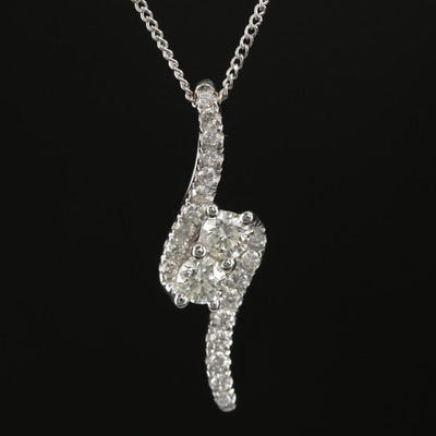 "14K White Gold ""Ever Us"" Diamond Pendant Necklace"