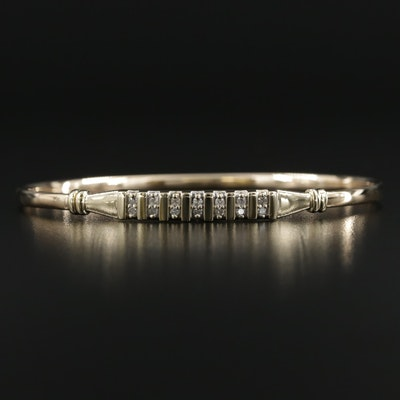 10K Diamond Oval Bangle