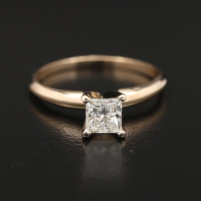 14K Gold 0.60 CT Diamond Solitaire Ring