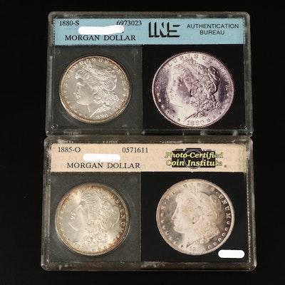 1880-S and 1885-O Morgan Silver Dollar