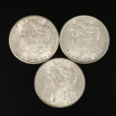 1885-O, 1889 and 1902-O Morgan Silver Dollar