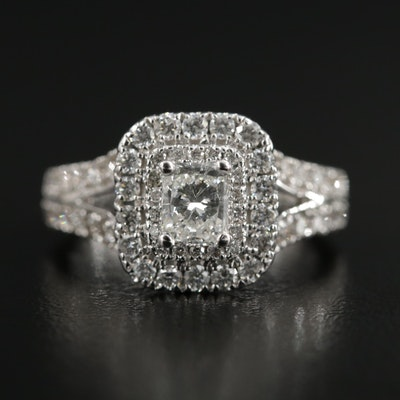 14K White Gold 1.50 Diamond Ring
