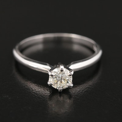 14K Gold 0.48 CT Diamond Solitaire Ring