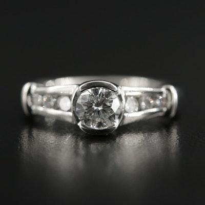 Platinum 0.69 CTW Diamond Ring