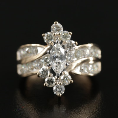 14K Yellow Gold 2.16 CTW Diamond Ring