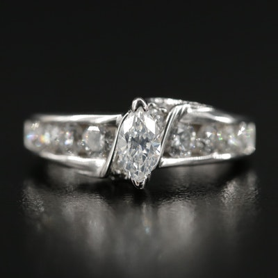 14K White Gold 1.53 CTW Diamond Ring