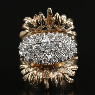 14K Gold 1.00 CTW Diamond Ring