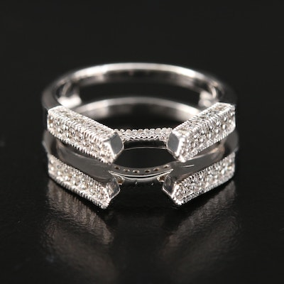 14K White Gold Diamond Ring Jacket