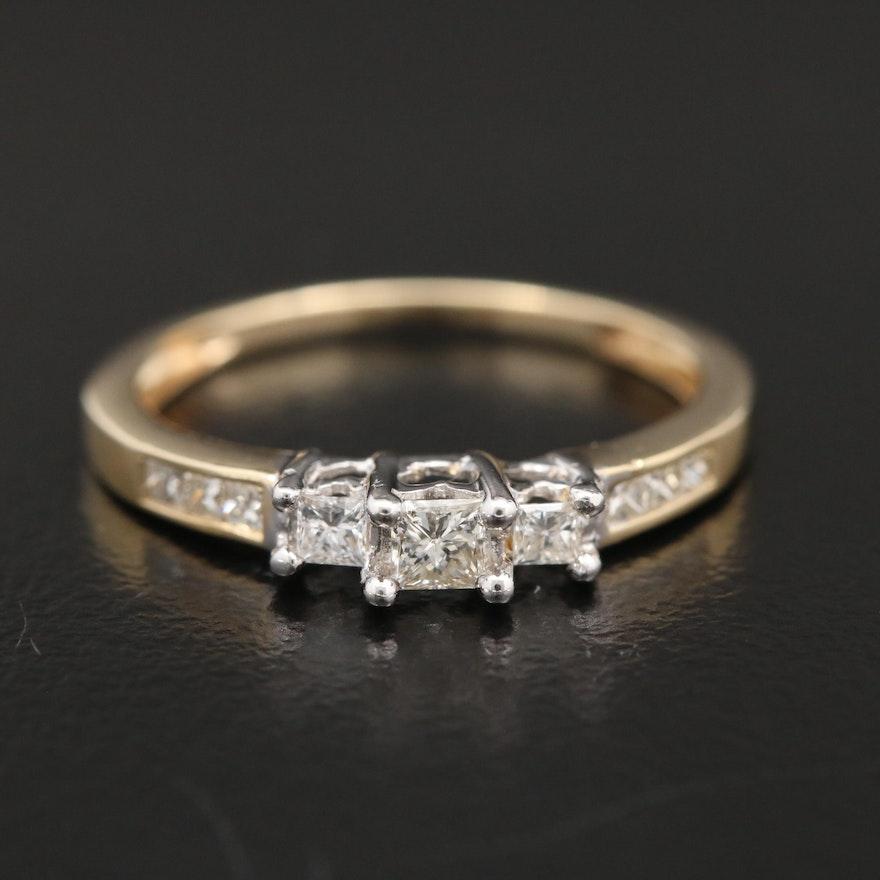 14K Gold Diamond Ring