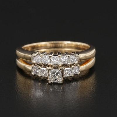 14K Gold Diamond Ring Set