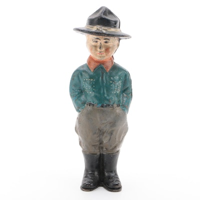 Cast Iron Boy Scout Still Bank