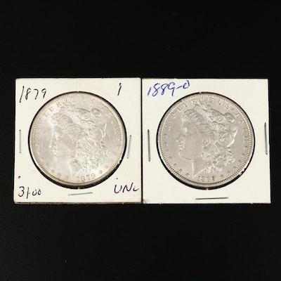 1879 and 1889-O Morgan Silver Dollars