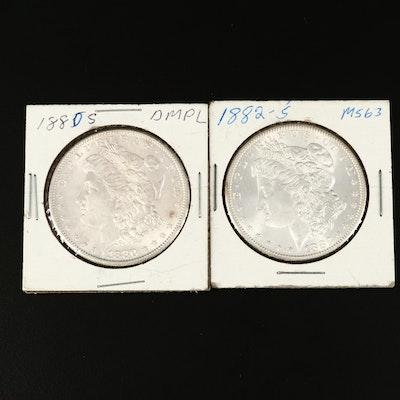 1880-S and 1882-S Morgan Silver Dollar