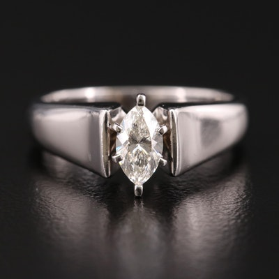 14K Gold 0.54 CT Diamond Solitaire Ring
