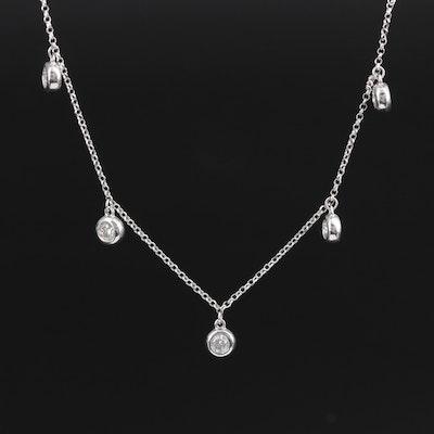 14K Gold Diamond Fringe Necklace