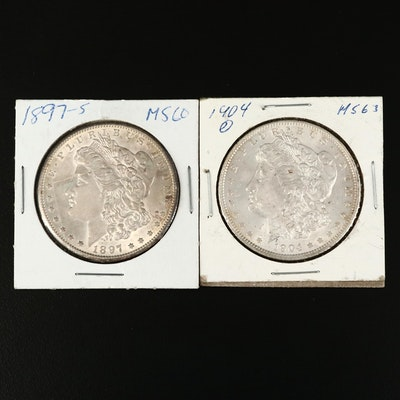 Better Date 1897-S and 1904 Morgan Silver Dollars