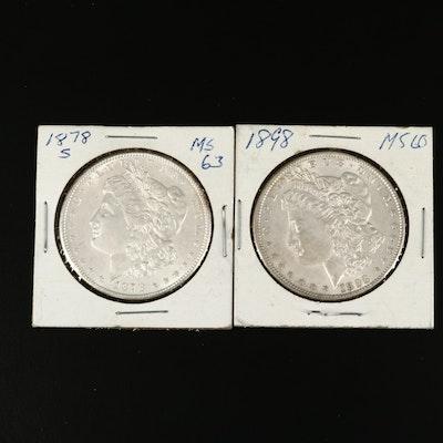 Pairing of Morgan Silver Dollars