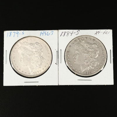 Better Date 1884-S and 1879-S Morgan Silver Dollar
