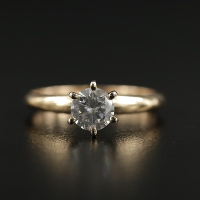 14K Gold 0.63 CT Diamond Solitaire Ring