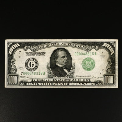 Series of 1928 U.S. $1000 Federal Reserve Note