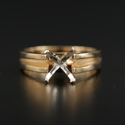 14K Gold Open-Mount Ring