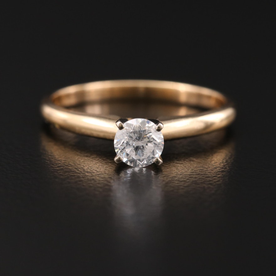 14K Gold 0.40 CT Diamond Solitaire Ring