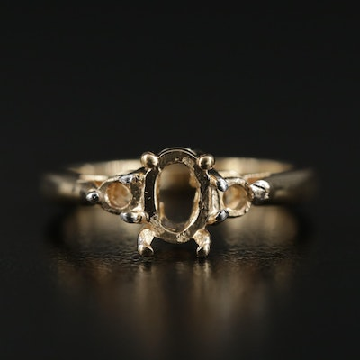 14K Yellow Gold Ring Mount