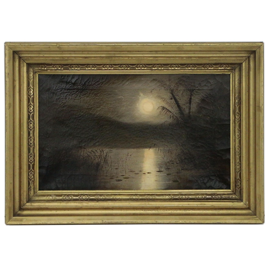 Nightscape Oil Painting, Early 20th Century