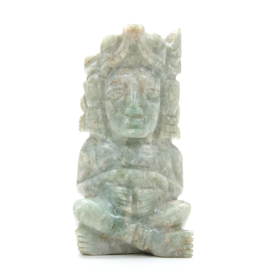 South American Style Carved Stone Figurine