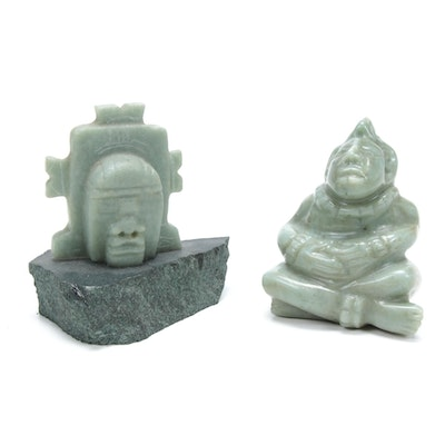 South American Style Carved Stone Figures