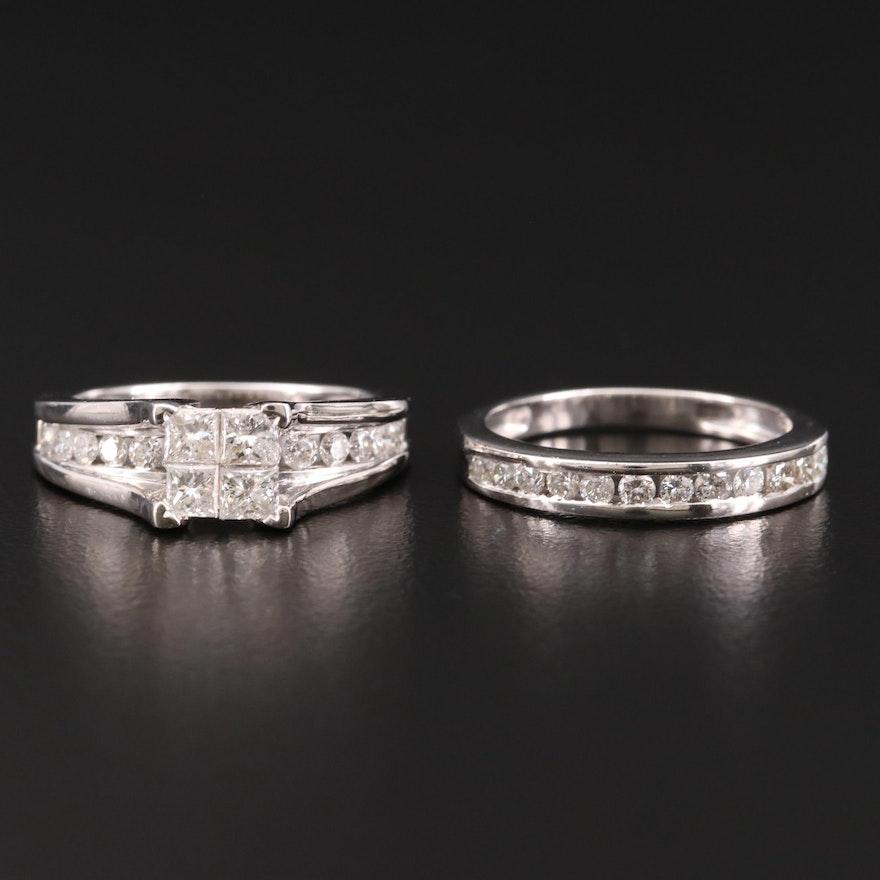 14K Gold 1.52 CTW Diamond Ring Set