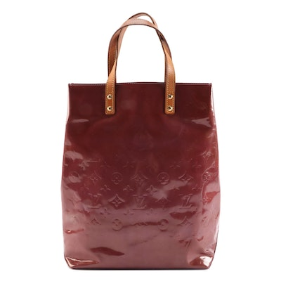 Louis Vuitton Reade MM Tote Bag in Monogram Vernis and Vachetta Leather