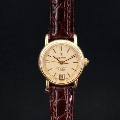 Corum for Tiffany & Co. 18K Gold Quartz Wristwatch